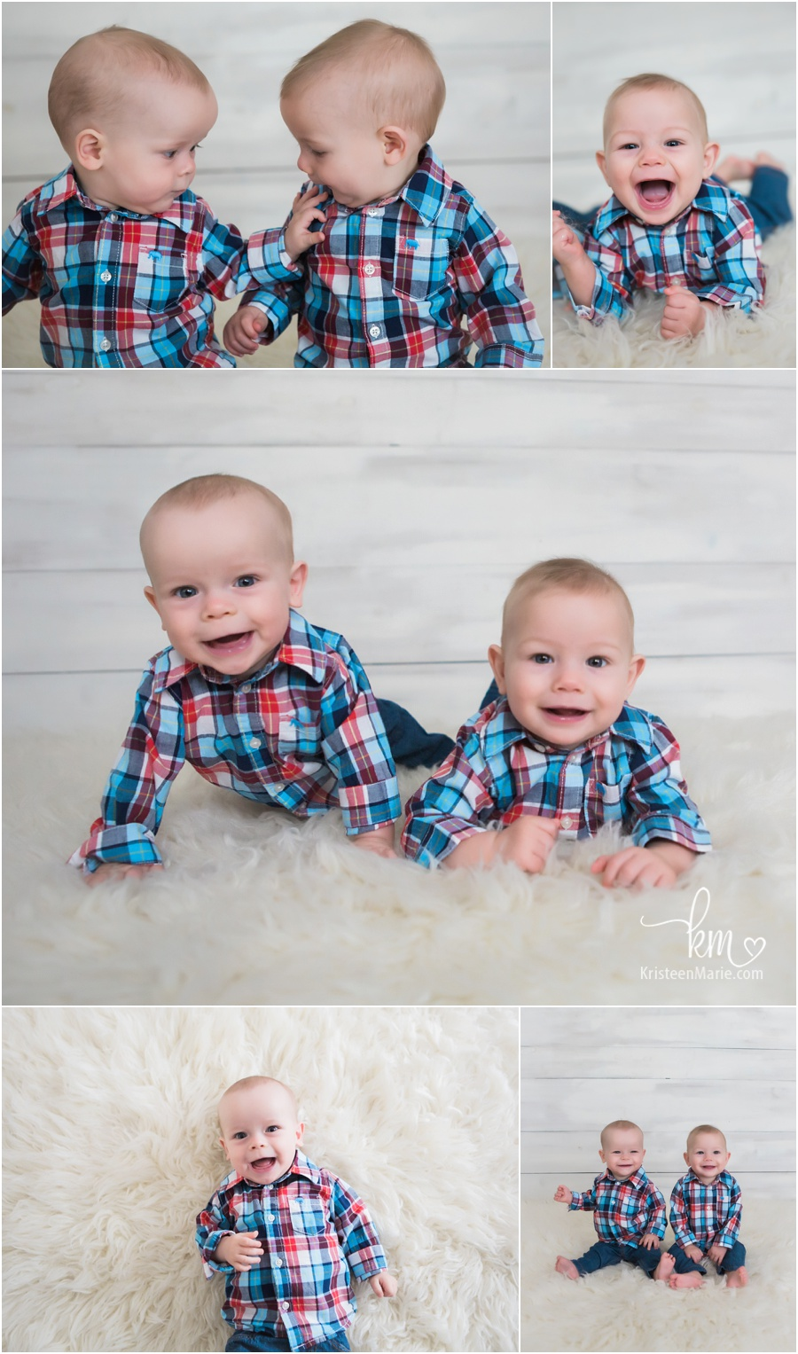 Twin boys sitter session - 6 month old twin boys