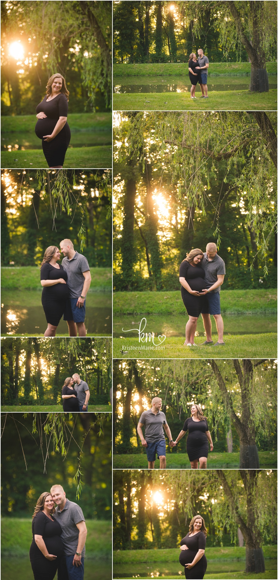 Indianapolis maternity photography at sunset - beautiful!
