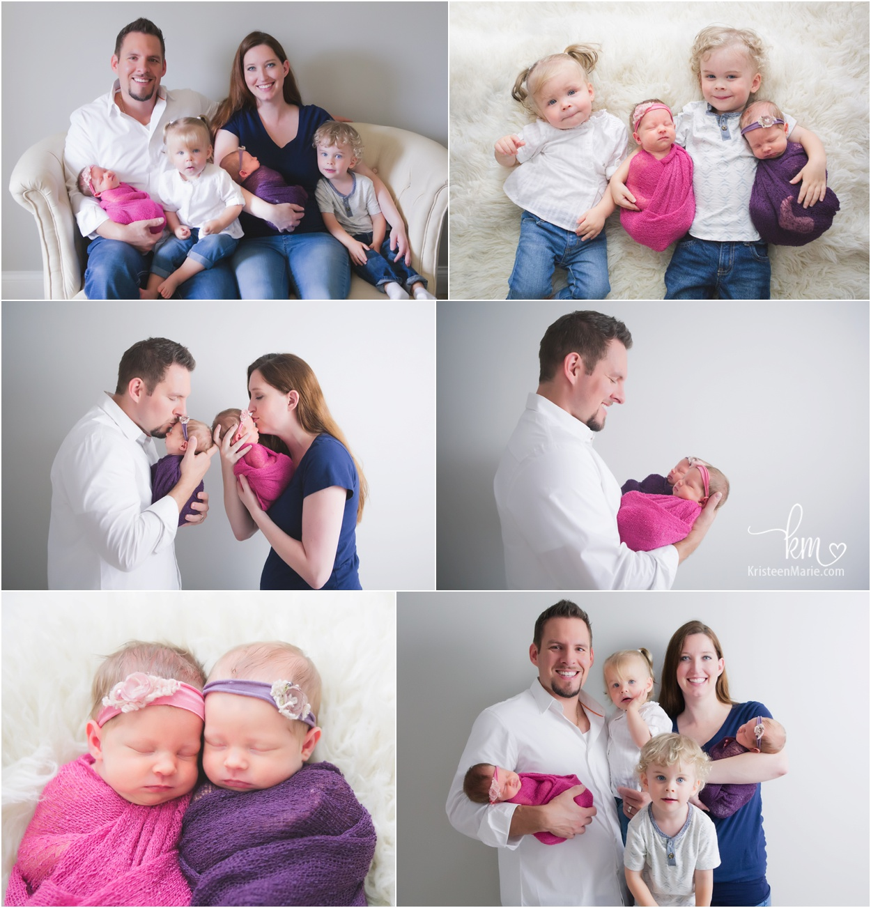 Zionsville family with twin newborn girls
