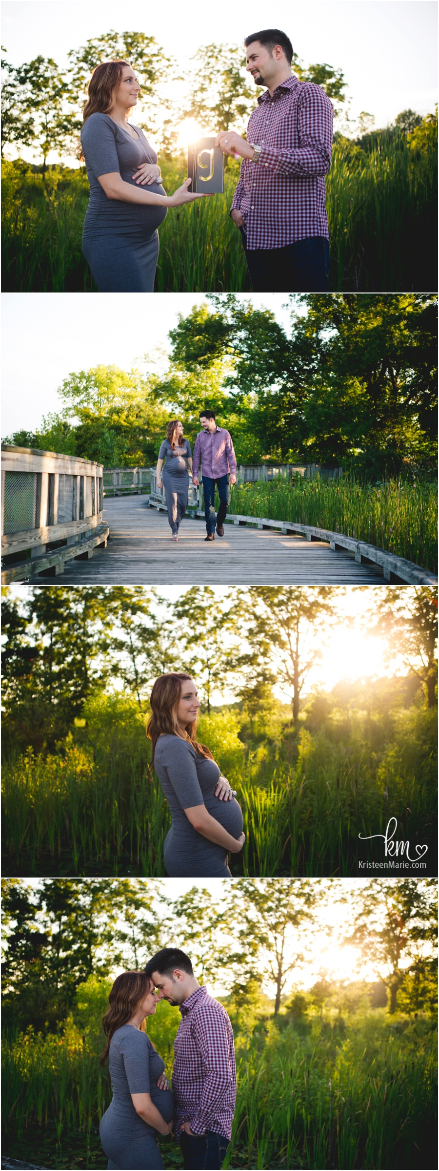stunning sunset maternity images - KristeenMarie Photography