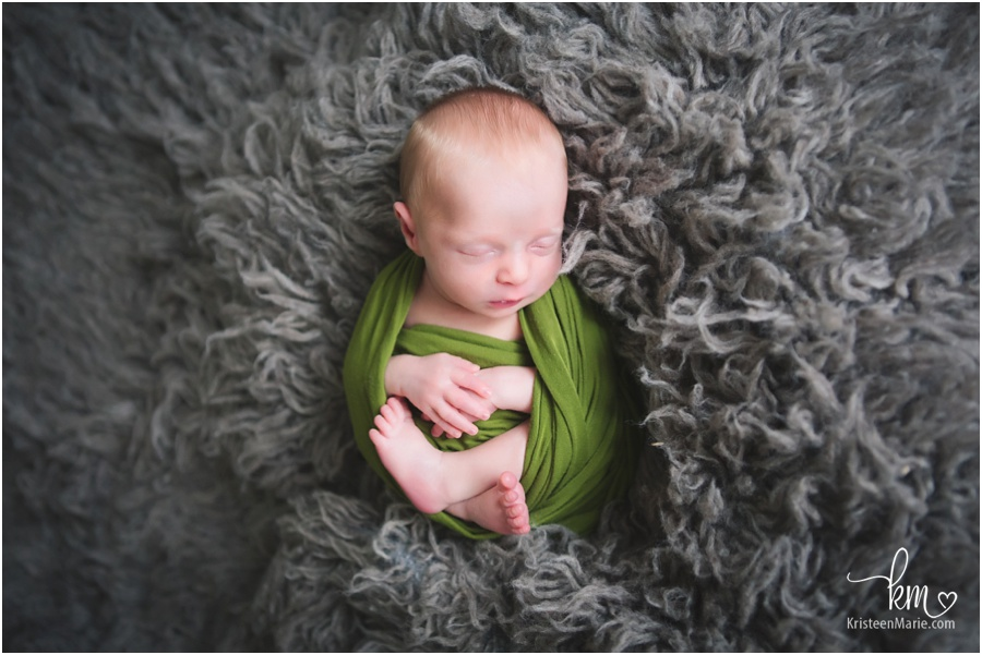 green and gray - newborn picture