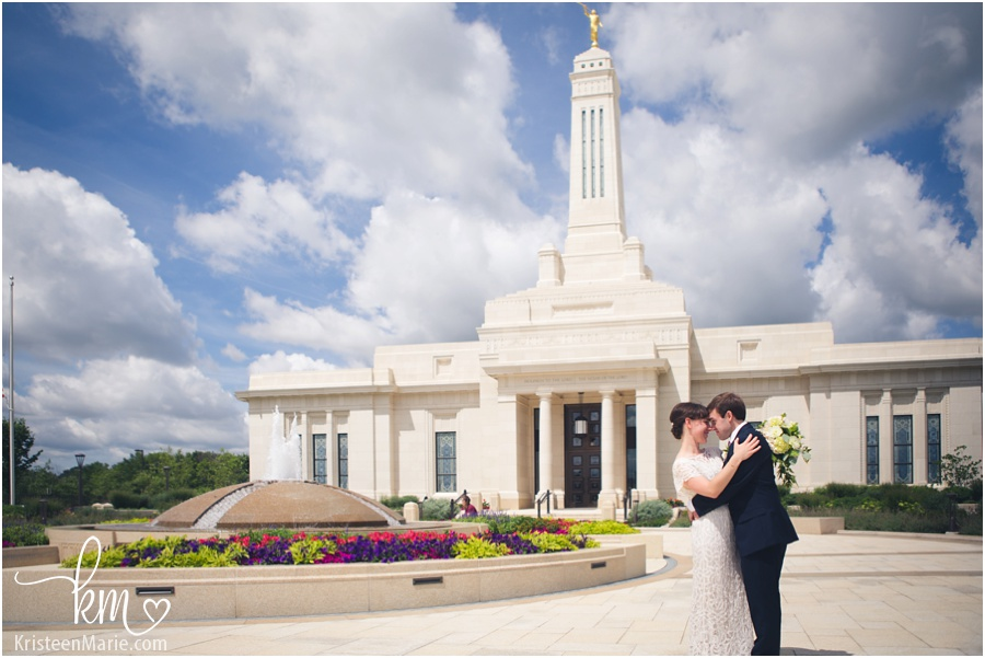 Mormon temple wedding Carmel, Indiana