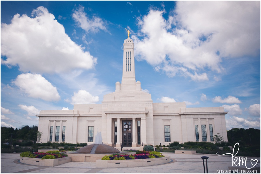 Mormon temple in Carmel, Indiana