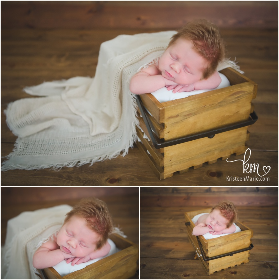 newborn boy in basket from Zionsville, IN