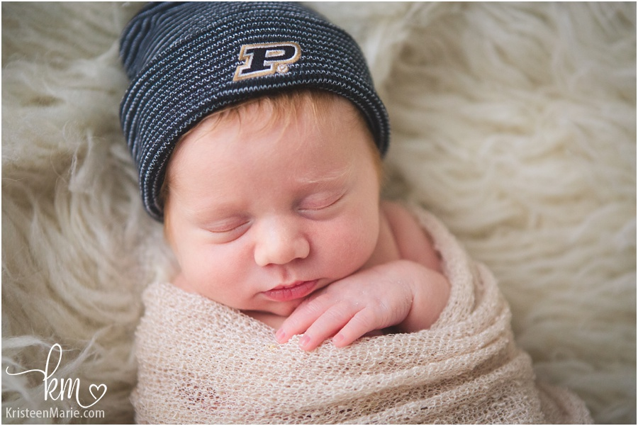 Purdue University newborn photography picture
