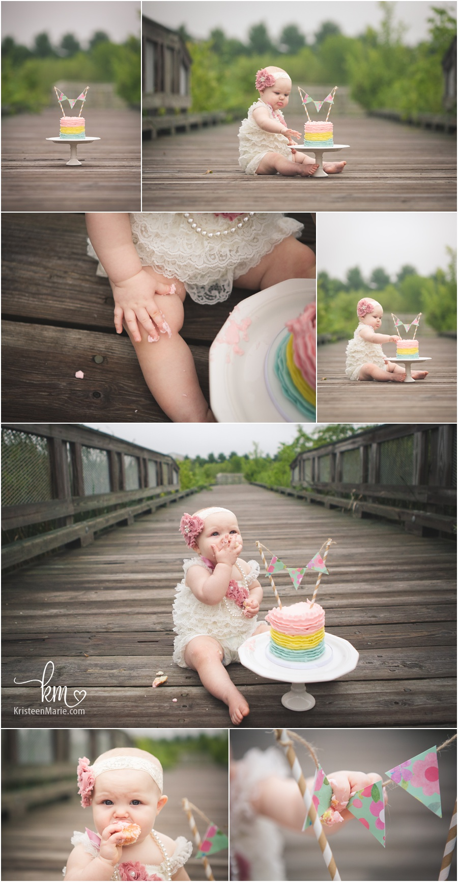 adorable cake smash set-up - first birthday photography