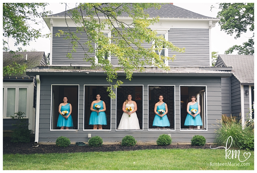 bridal party at Mustard Seed Gardens
