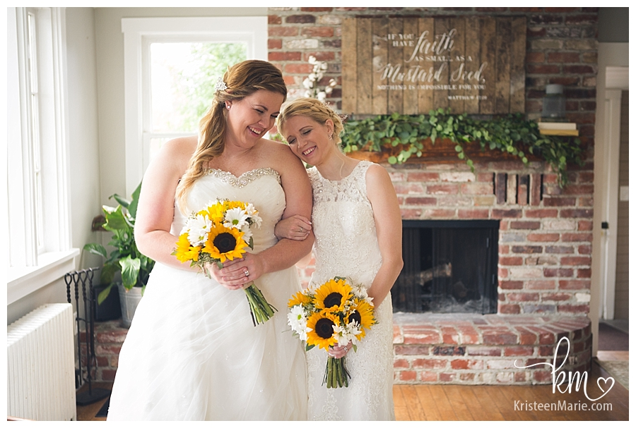 Indoor bridal pictures at Mustard Seed Gardens