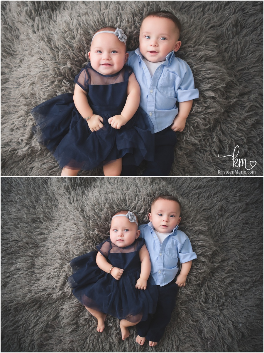 6 month old twins - boy and girl