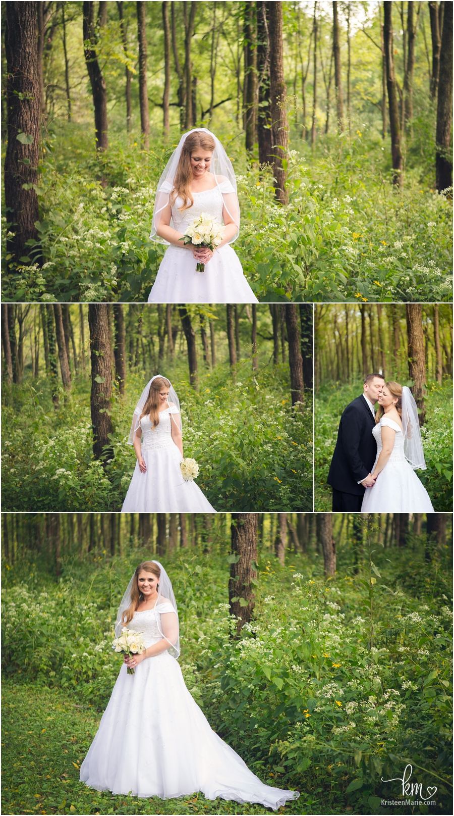 outdoor wedding portraits at Fort Harrison State Park