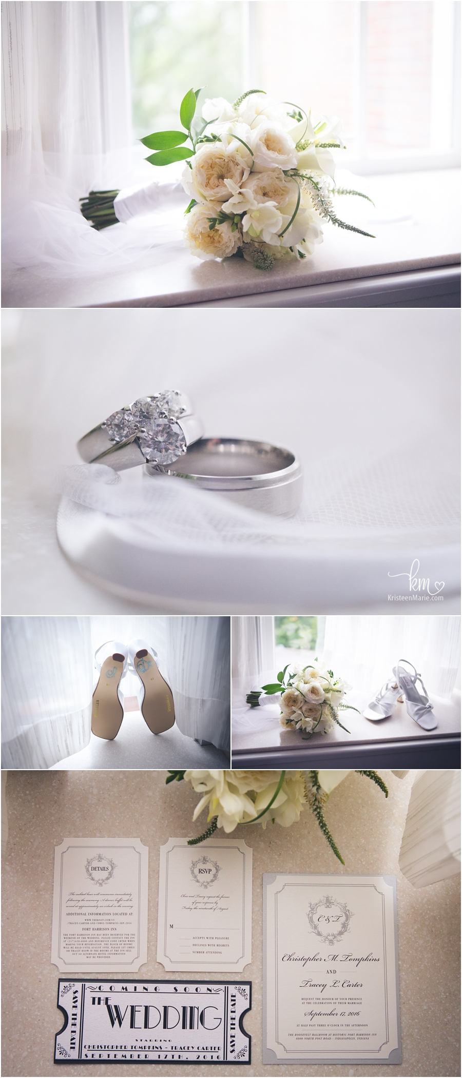 wedding detials - flowers, rings, shoes