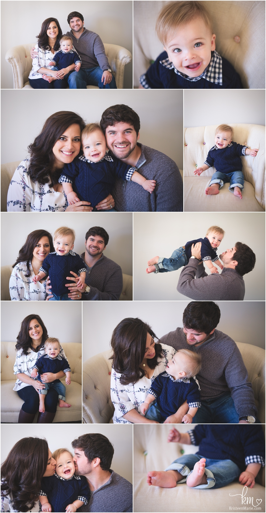 Indianapolis family photography in studio