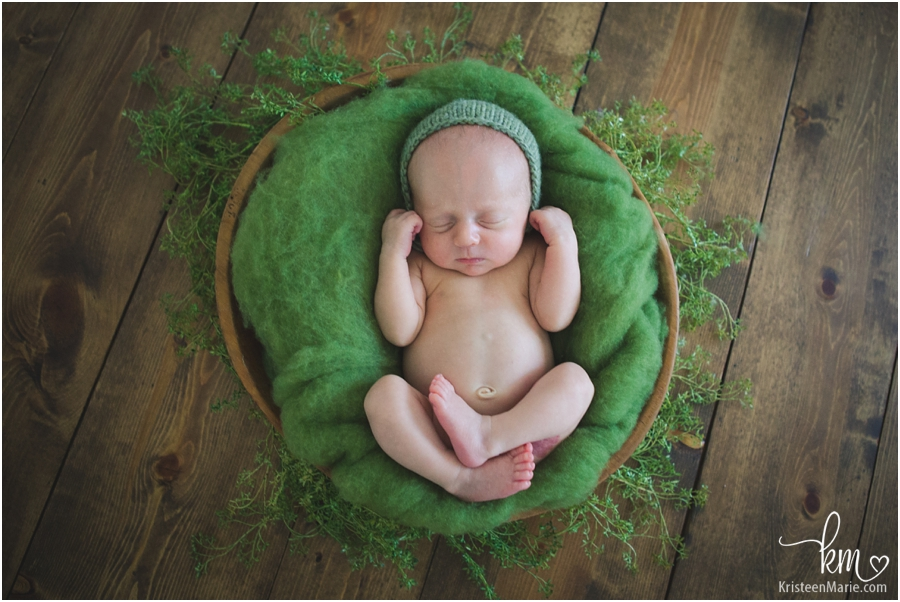 Zionsville newborn photography by KristeenMarire Photo
