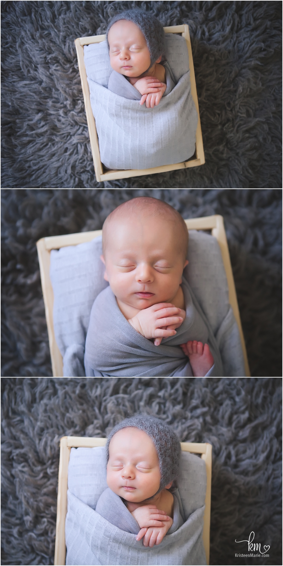 grey and white newborn photography - great for home decor!