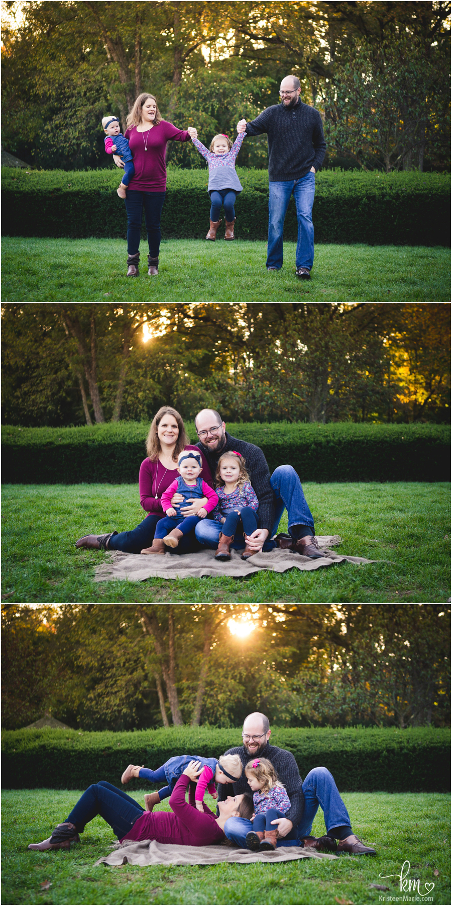 beautiful light on a Fall day for family pictures - what great posing ideas!