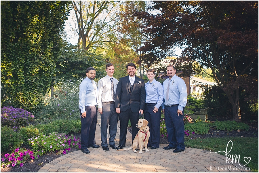 groomsment and the dog