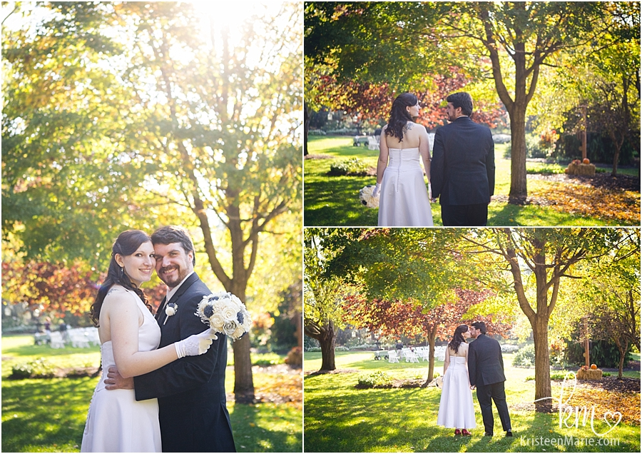Fall wedding at Avon Gardens