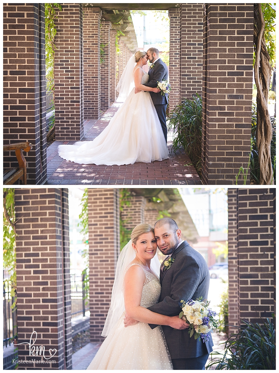 bride and groom in Indianapolis, Indiana