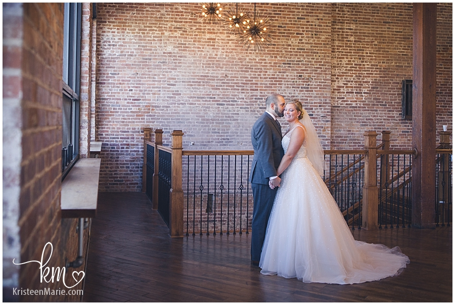 bride and groom at the Bitwell in Indianapolis