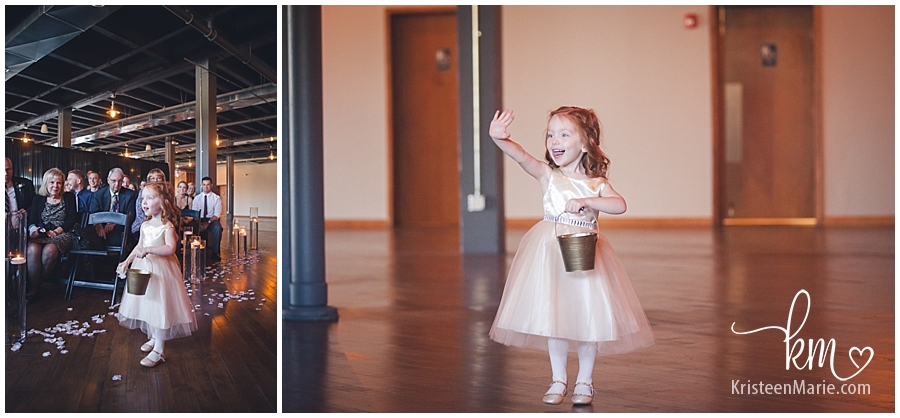 excited flower girl