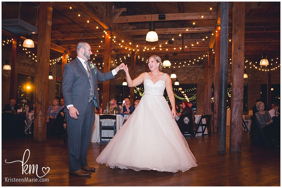 bride and groom - first dance