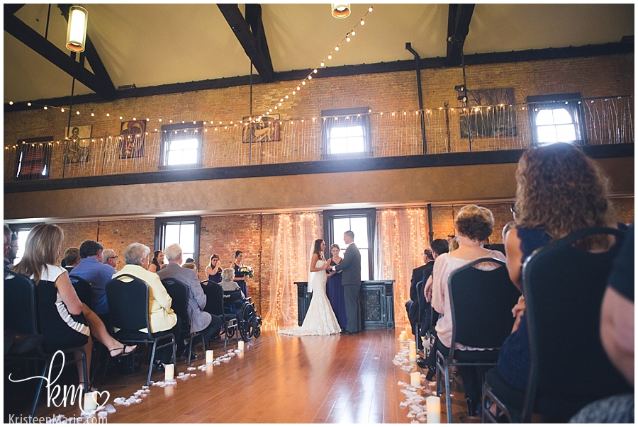 wedding ceremony at Arch at Chatham in Indianapolis