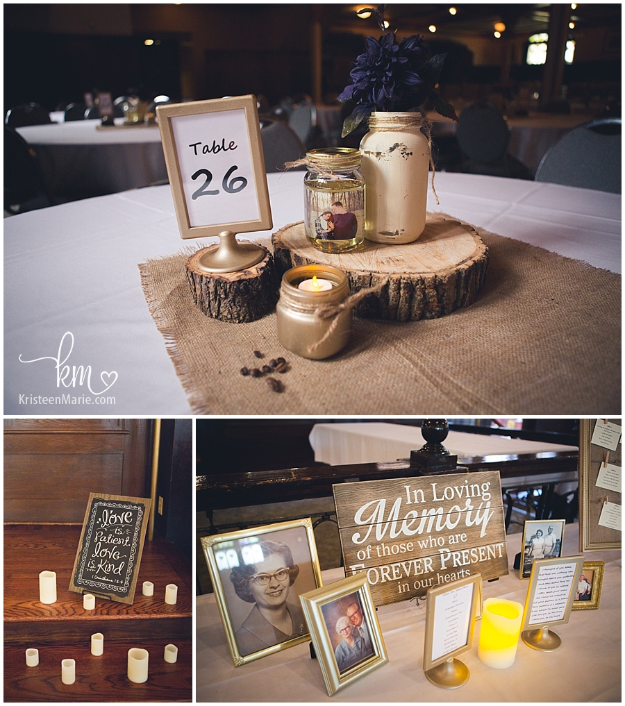 table decor for Rathskeller wedding