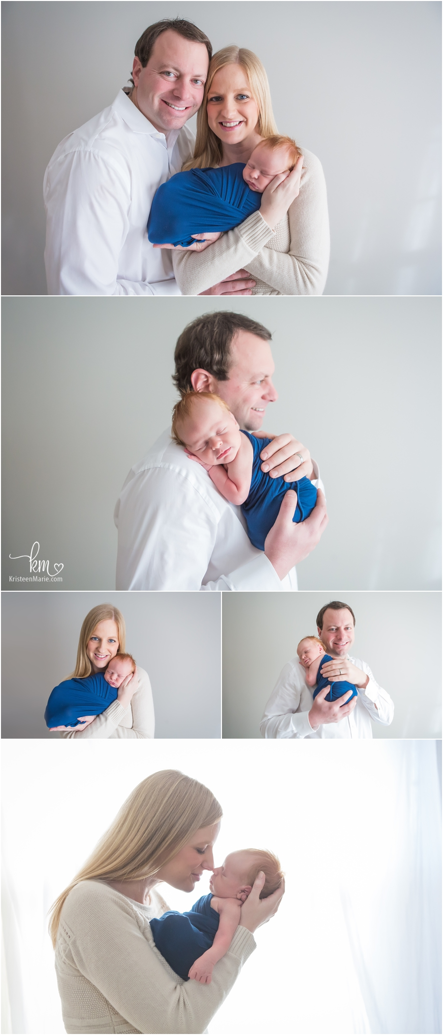 family with newborn baby boy - family newborn photography poses