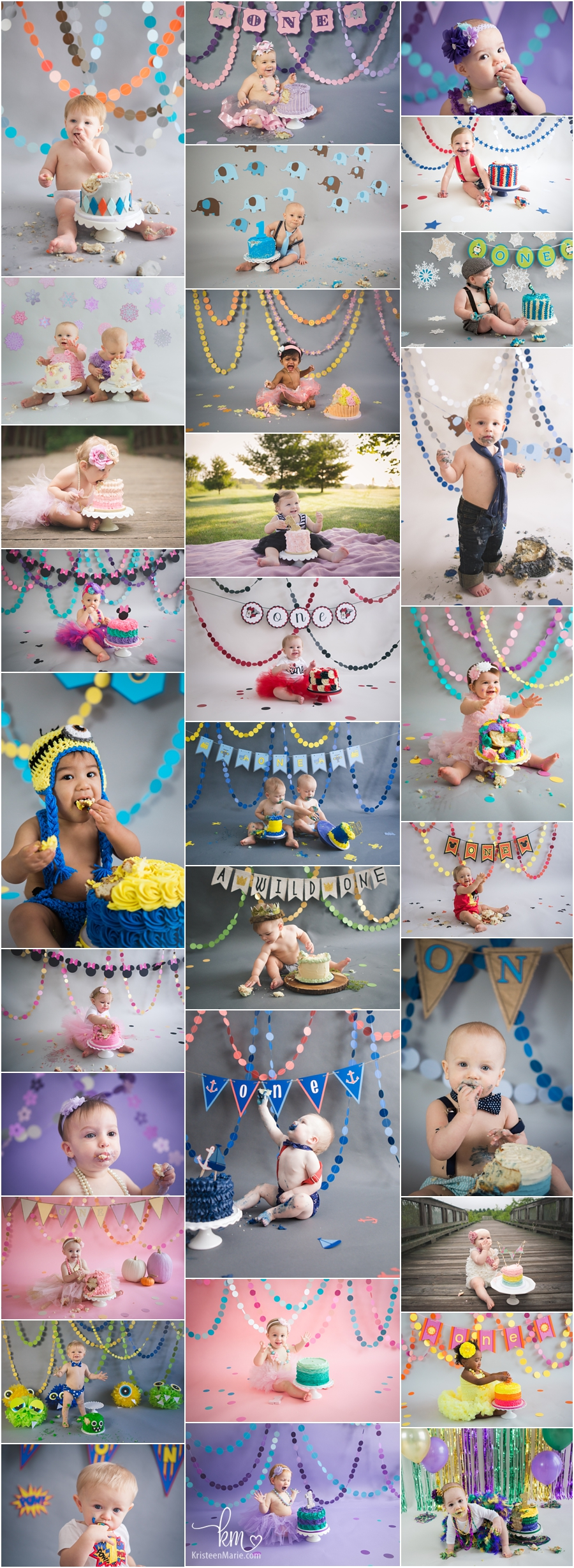 Indianapolis Cake Smash Photogrpaher - Cake smash photography ideas from KristeenMarie Photo