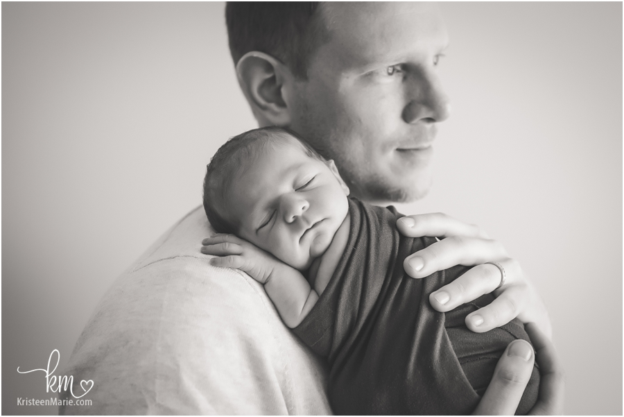 Greenwood dad with newborn baby boy