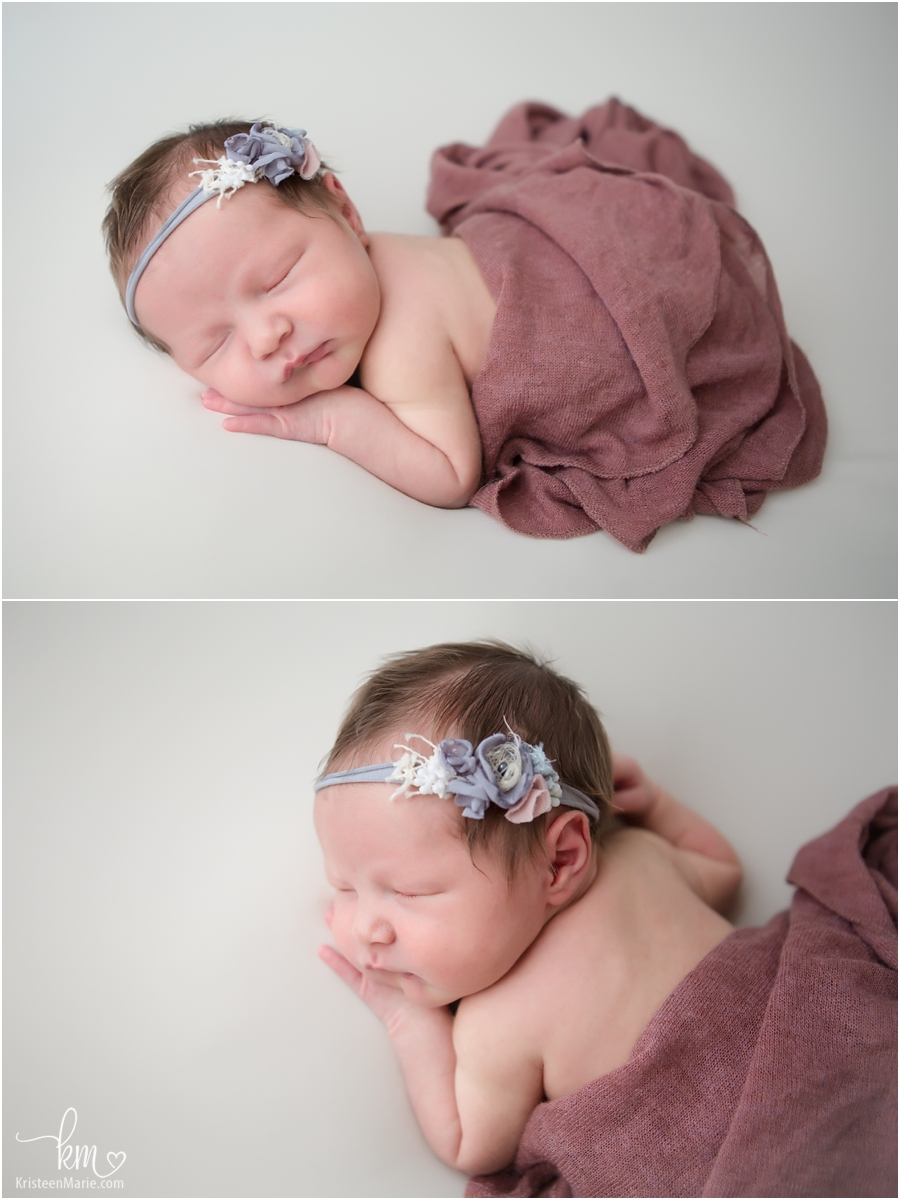 sleeping newborn girl - baby photography in Indianapolis, IN