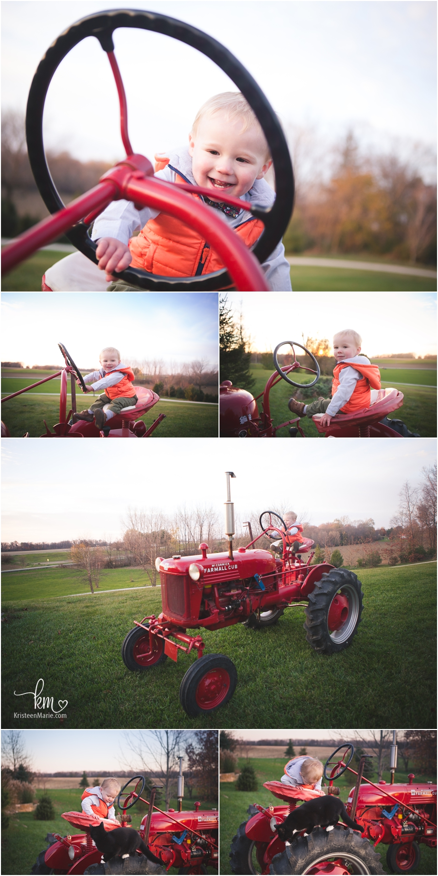 tractor on farm - boy on the farm pictures