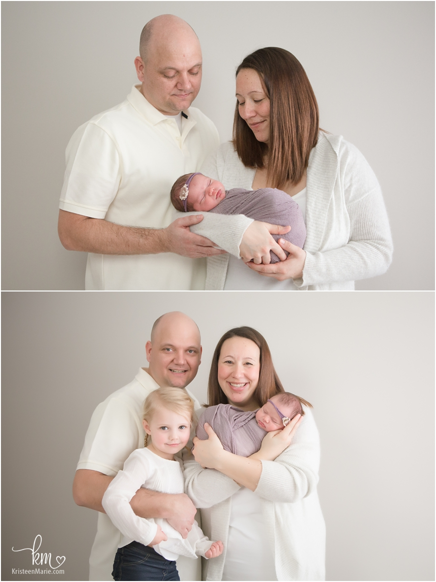 Zionsville newborn family photographer