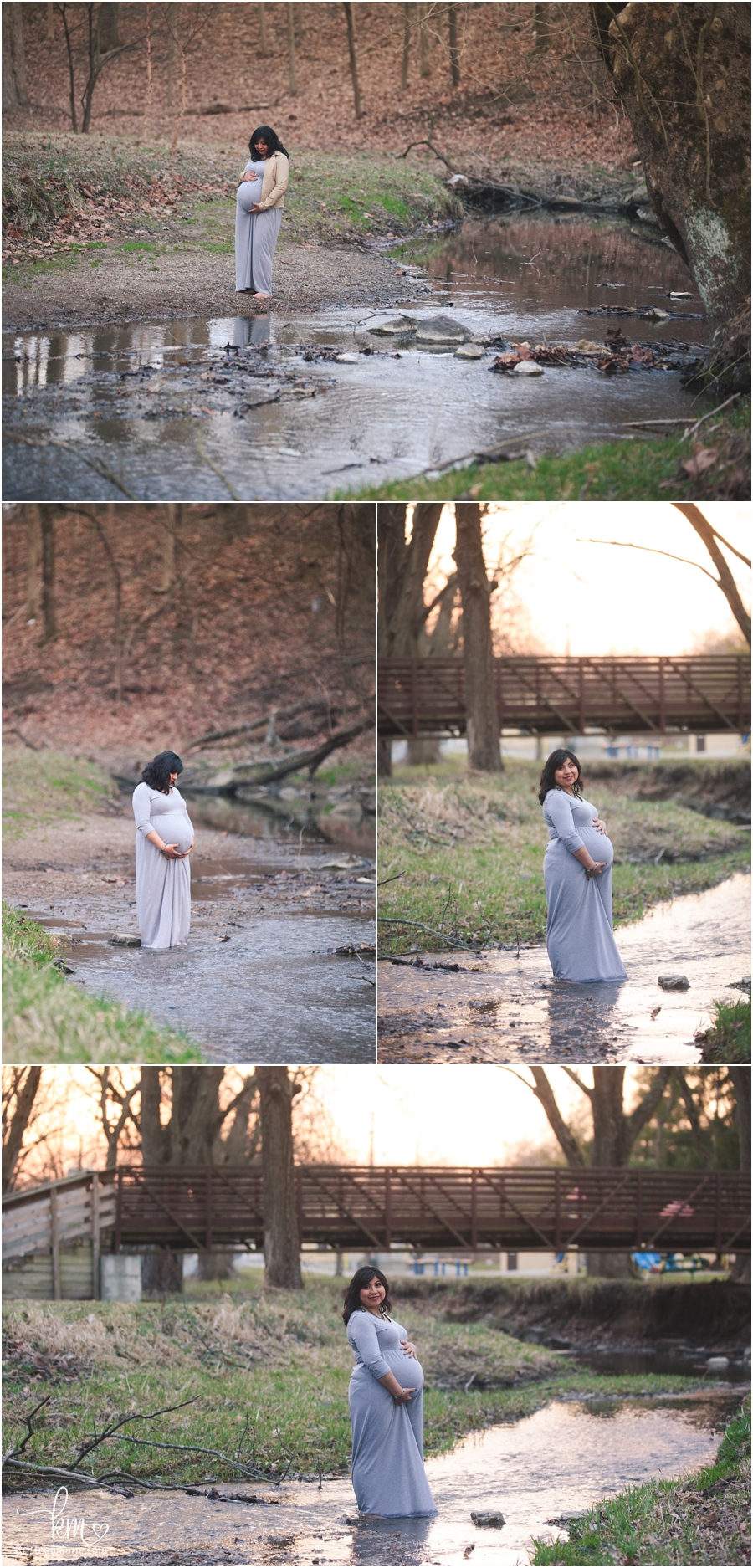 Mom in water for maternity session