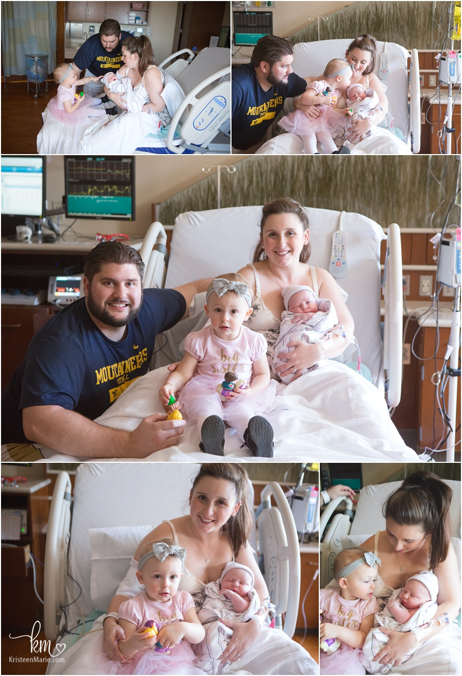 the growing family in IU North Hospital in Carmel, IN