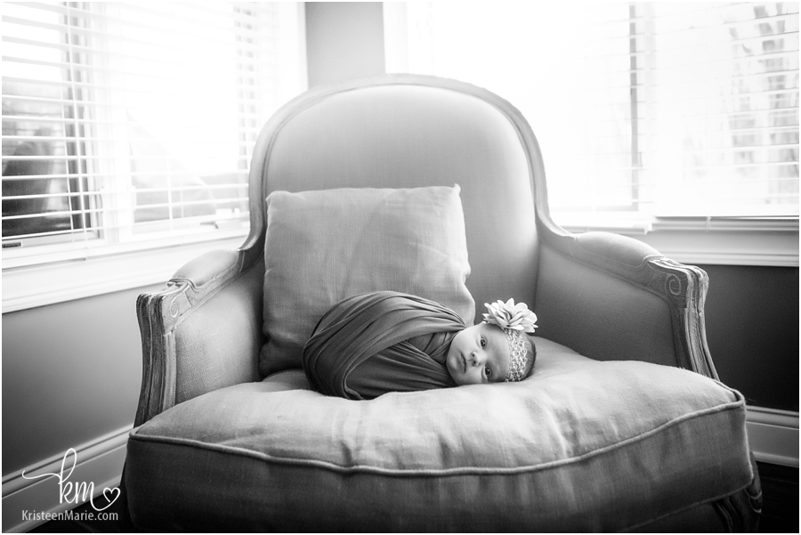 Indianapolis in-home newborn photography