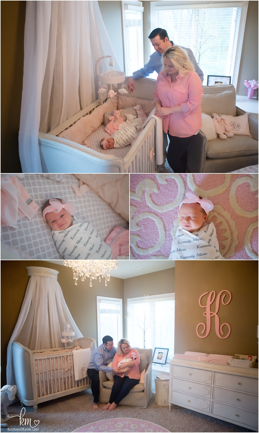 in the nursery newborn pictures