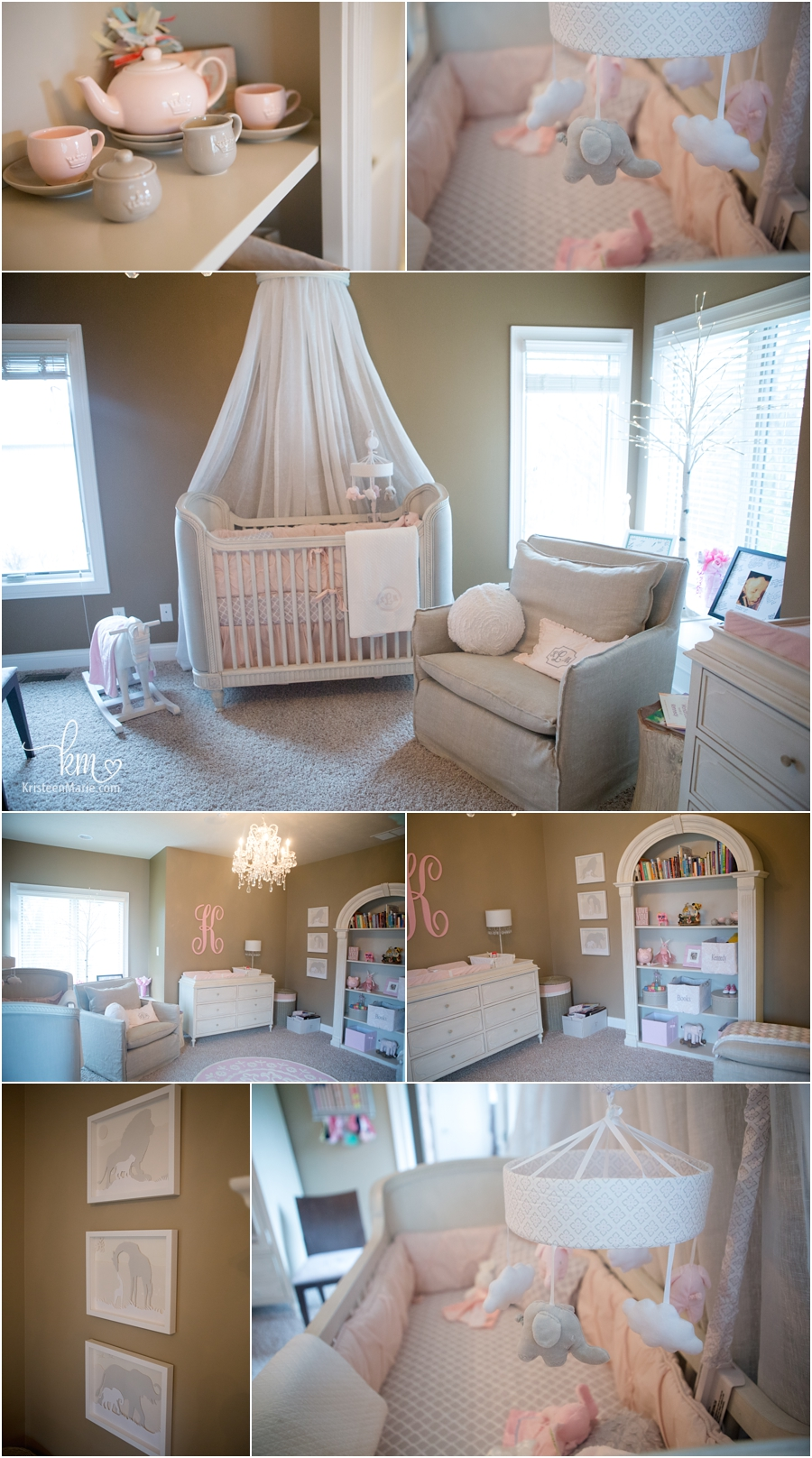 beautiful pink nursery for little girl