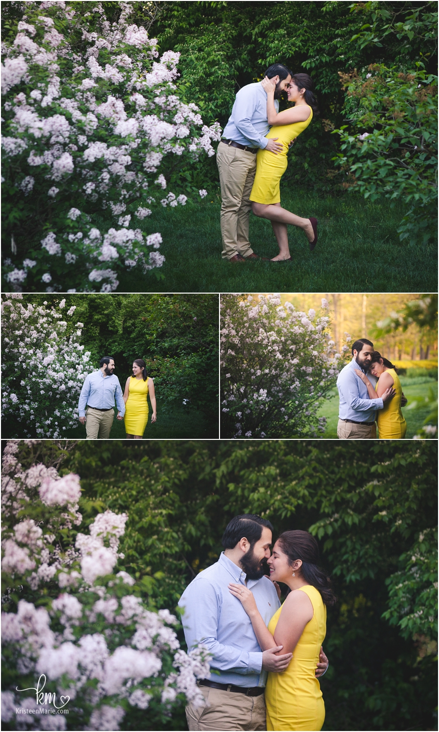blooming spring flowers - engagement photography - so emotional