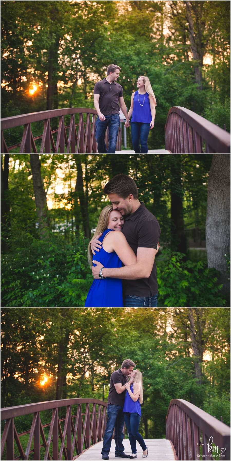 bridge poses for engagement session - engagement photography