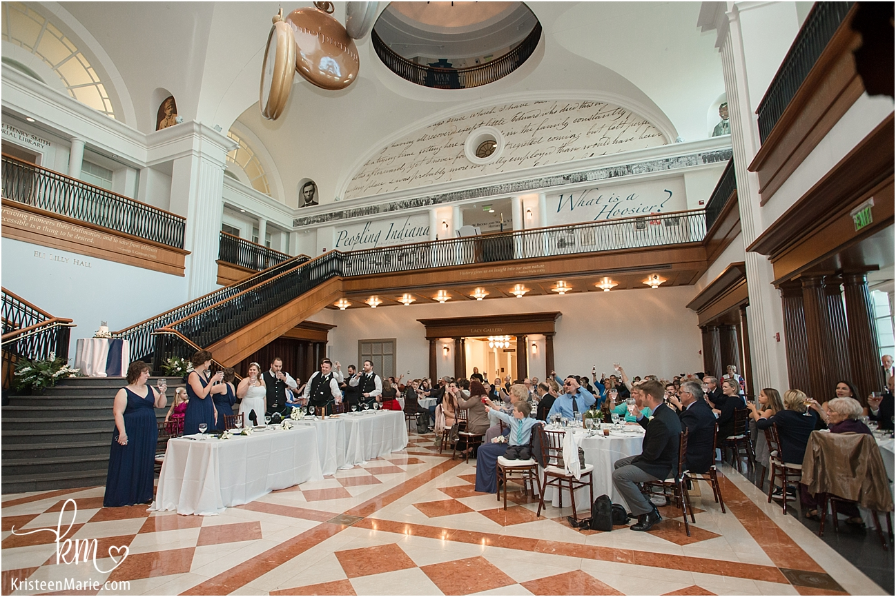 Indiana Historical Society Wedding in Indianapolis - all the guests