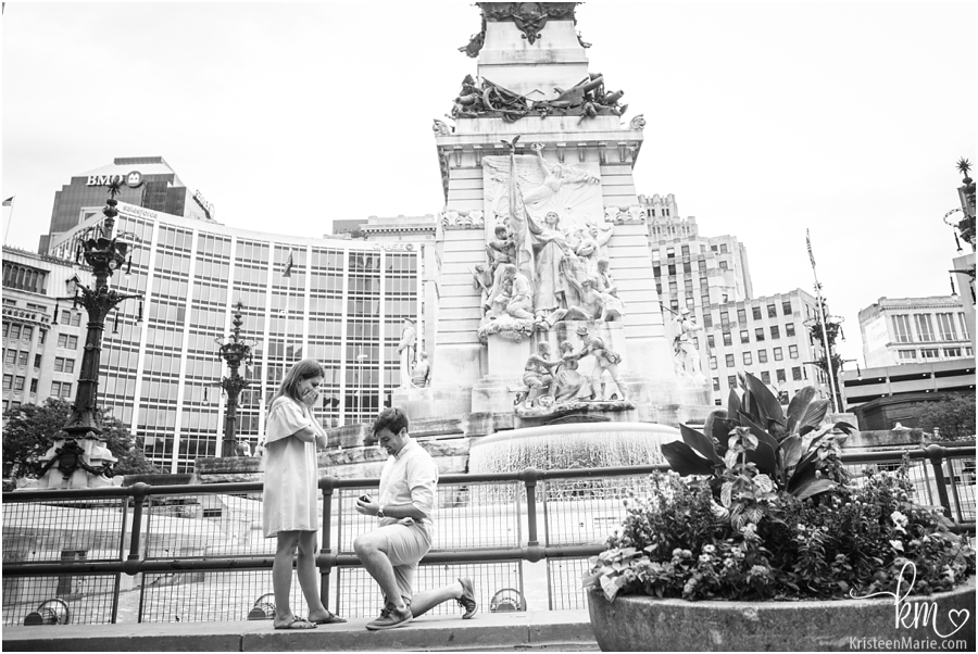 black and white proposal picture