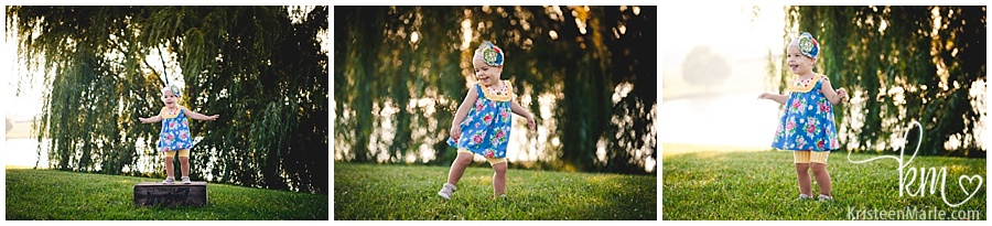 little girl dancing/ little girl photoshoot/ fall photo with little girl