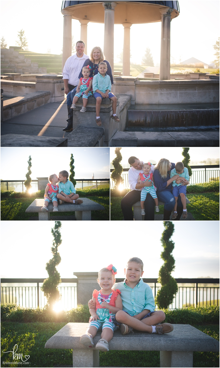 sunrise family photography session - lovely light!