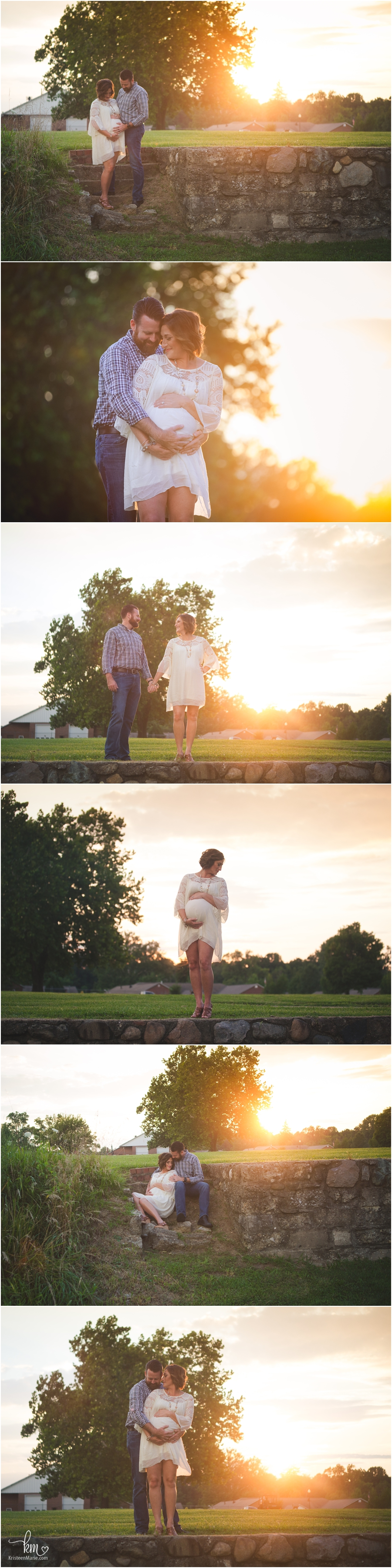 Stunning sunset maternity photography - beautifully backlit