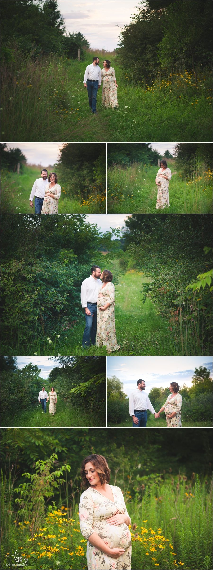 couple in a field - maternity photography by KristeenMarie