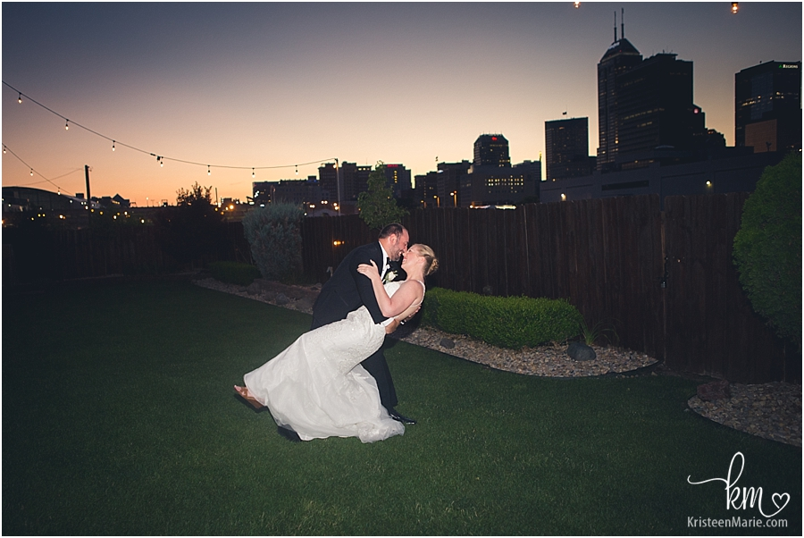 Sunset Wedding Pictures at Mavris - Indianapolis