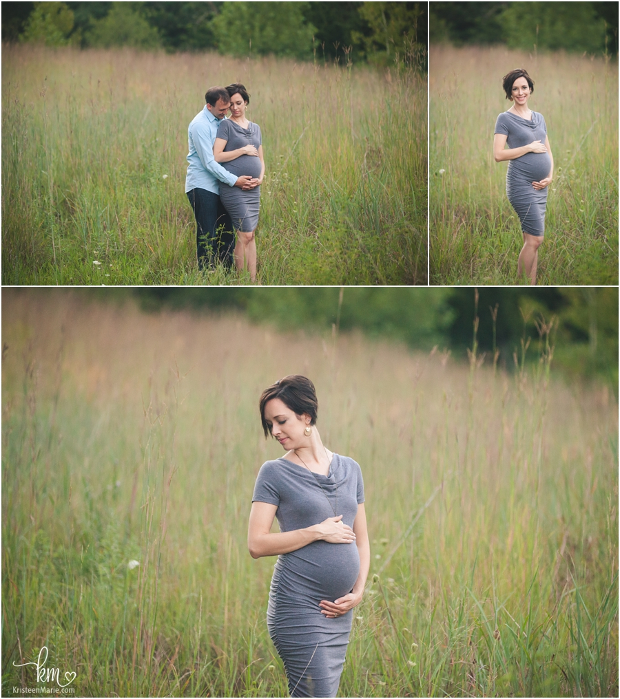 maternity pictures in field