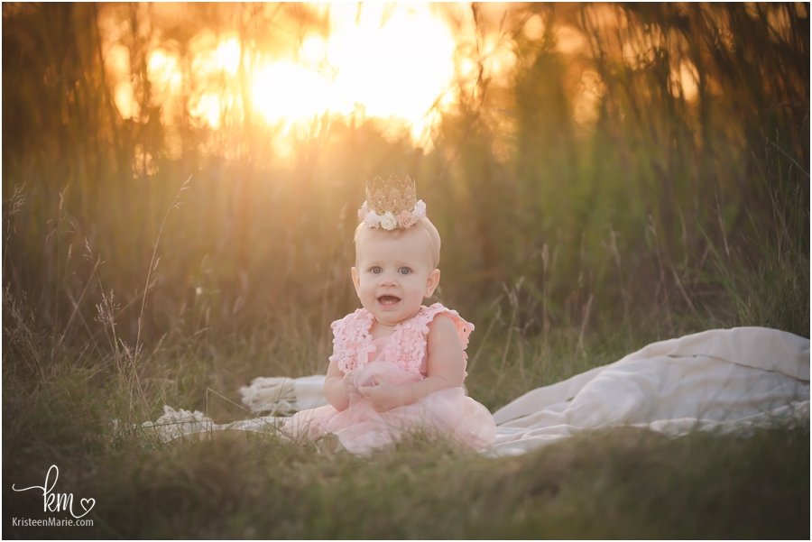 The birthday girl at sunset - Indianapolis child photography