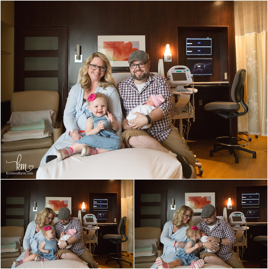 the whole family in the hospital - Fresh 48 session in Indianapolis